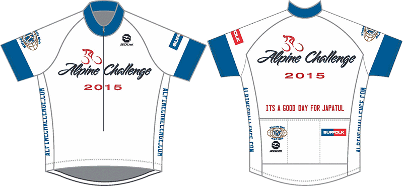 Alpine Challenge shirt back